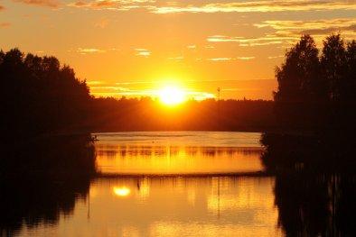 Sonnenuntergang in Oulu