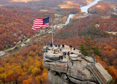 Chimney Rock in North Carolina