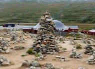 Polarkreis-Center auf der Hochebene Saltfjellet