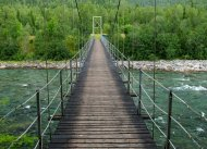 Hängebrücke bei Mo i Rana