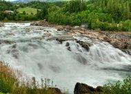 Wasserfall Laksfossen