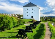 Wehrturm der Kristiansen-Festung hoch über Trondheim