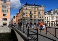 Riksbron mit Blick auf Drottninggatan
