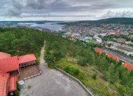 Blick vom Stadtberg Norra Berget auf Sundsvall